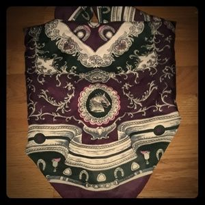 Accessories - Vintage Italian horse racing scarf